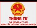 Cách chuyển số dư theo Thông tư số 200/2014/TT-BTC