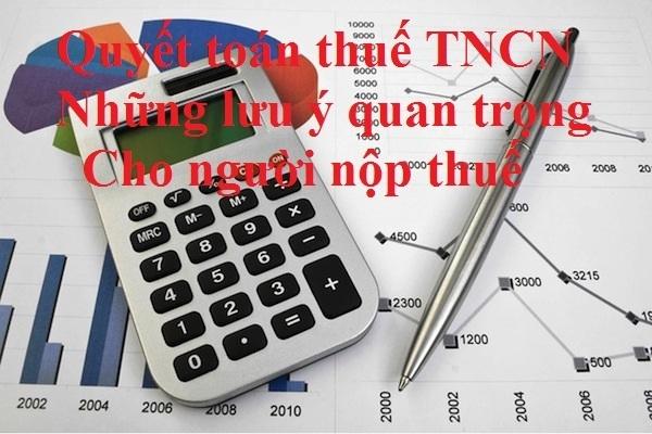 Quyết toán thuế TNCN đối với người chưa có MST cá nhân