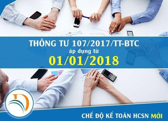 Hệ thống tài khoản kế toán HCSN ban hành kèm theo Thông tư 107/2017/TT-BTC
